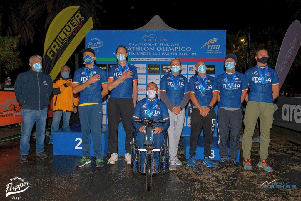 I Campioni Italiani di Paratriathlon 2020 di San Benedetto (Foto: Riccardo Del Bianco / Adriatic Series - Flipper Triathlon)
