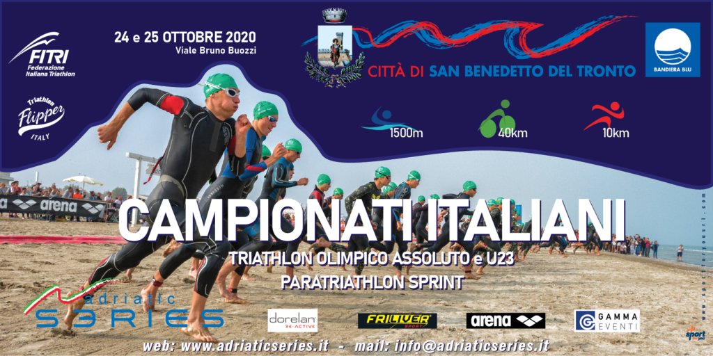 Locandina Campionati Italiani Triathlon Olimpico 2020 San Benedetto del Tronto