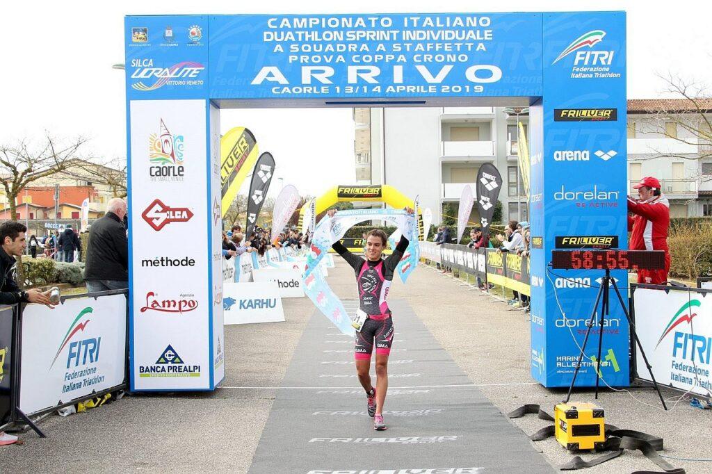 Costanza Arpinelli trionfa agli Italiani di Duathlon Sprint a Caorle 2019