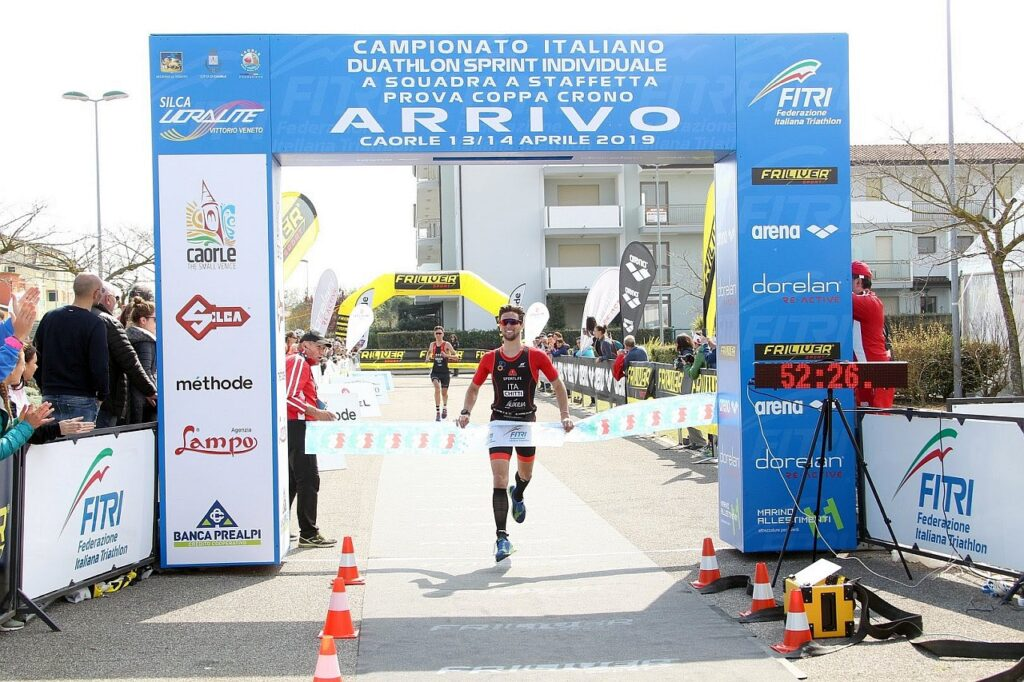 Dario Chitti trionfa agli Italiani di Duathlon Sprint a Caorle 2019