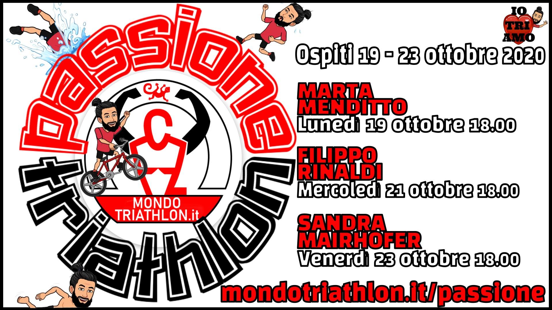 Programma Passione Triathlon 19-23 ottobre 2020