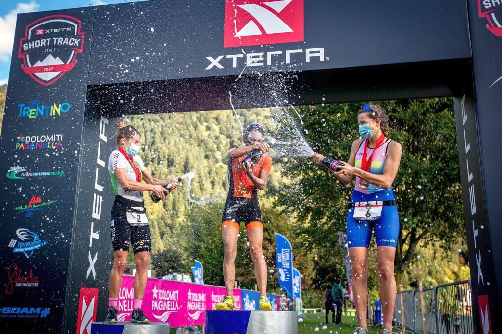 XTERRA Molveno Short Track 2020, podio donne (Foto: Carel Du Plessis)
