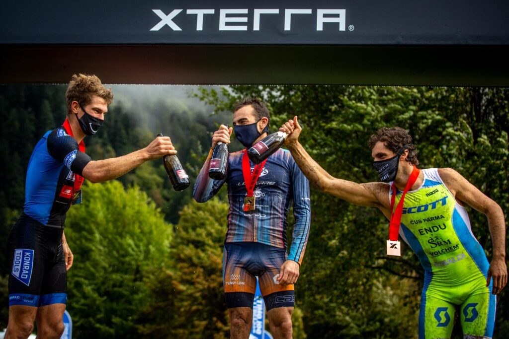 XTERRA Molveno Short Track 2020, podio uomini (Foto: Carel Du Plessis)