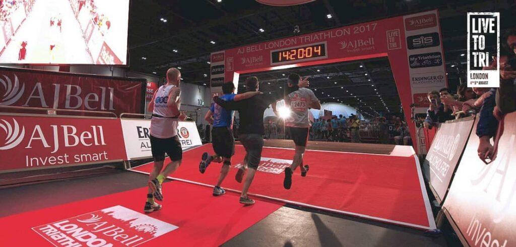 The London Triathlon finish line