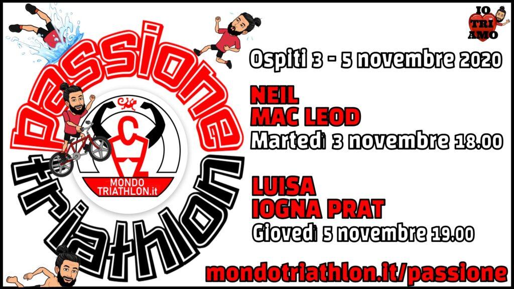 Programma Passione Triathlon 3 e 5 novembre 2020