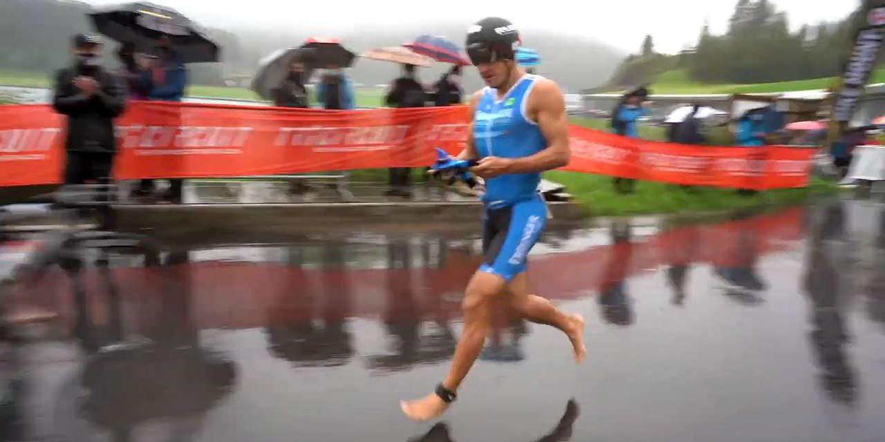 Momenti topici: Andreas Dreitz parte per la frazione bici… senza bici!