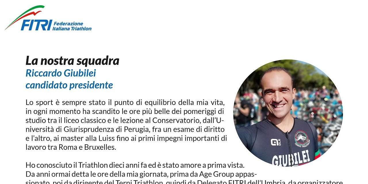 Il programma del candidato Presidente FITri Riccardo Giubilei