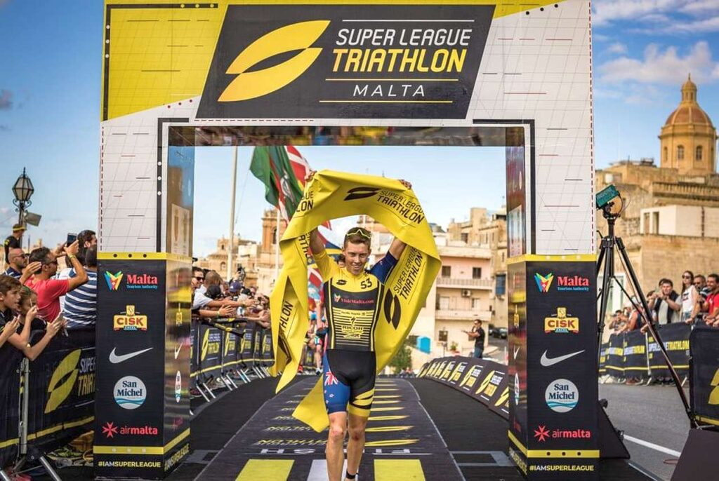 "Hayden ""The Falcon"" Wilde alla Super League Triathlon di Malta"
