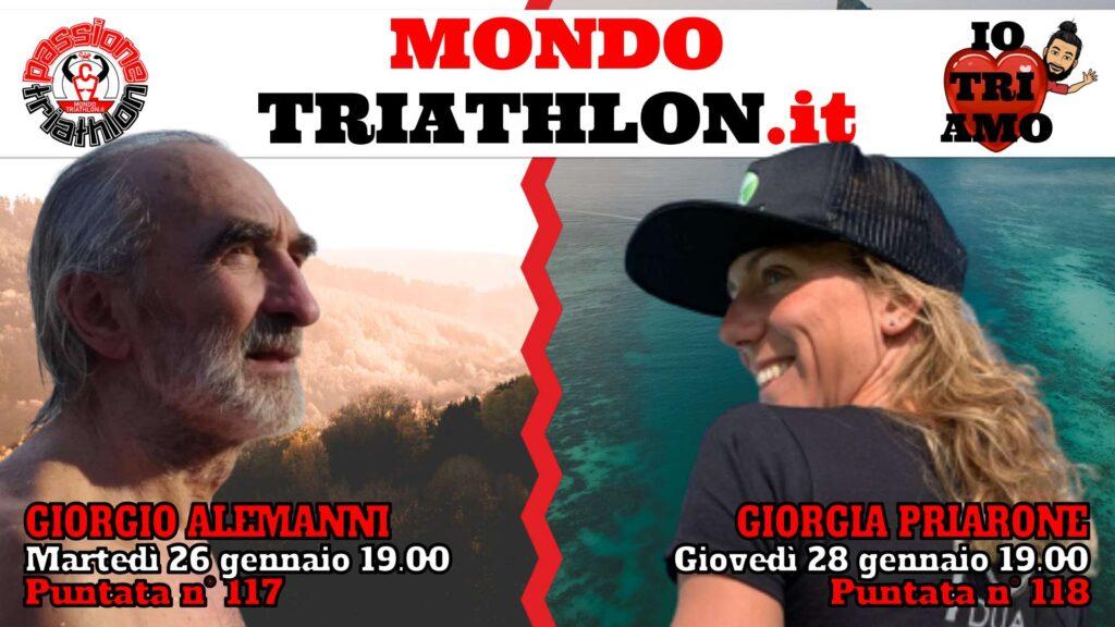 Copertina Passione Triathlon 26 e 28 gennaio 2021 - Giorgio Alemanni e Giorgia Priarone