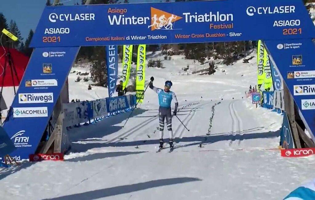 Franco Pesavento vince il Tricolore di winter triathlon 2021 ad Asiago