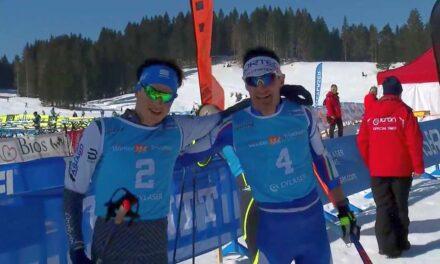 Sandra Mairhofer e Franco Pesavento campioni italiani di winter triathlon!