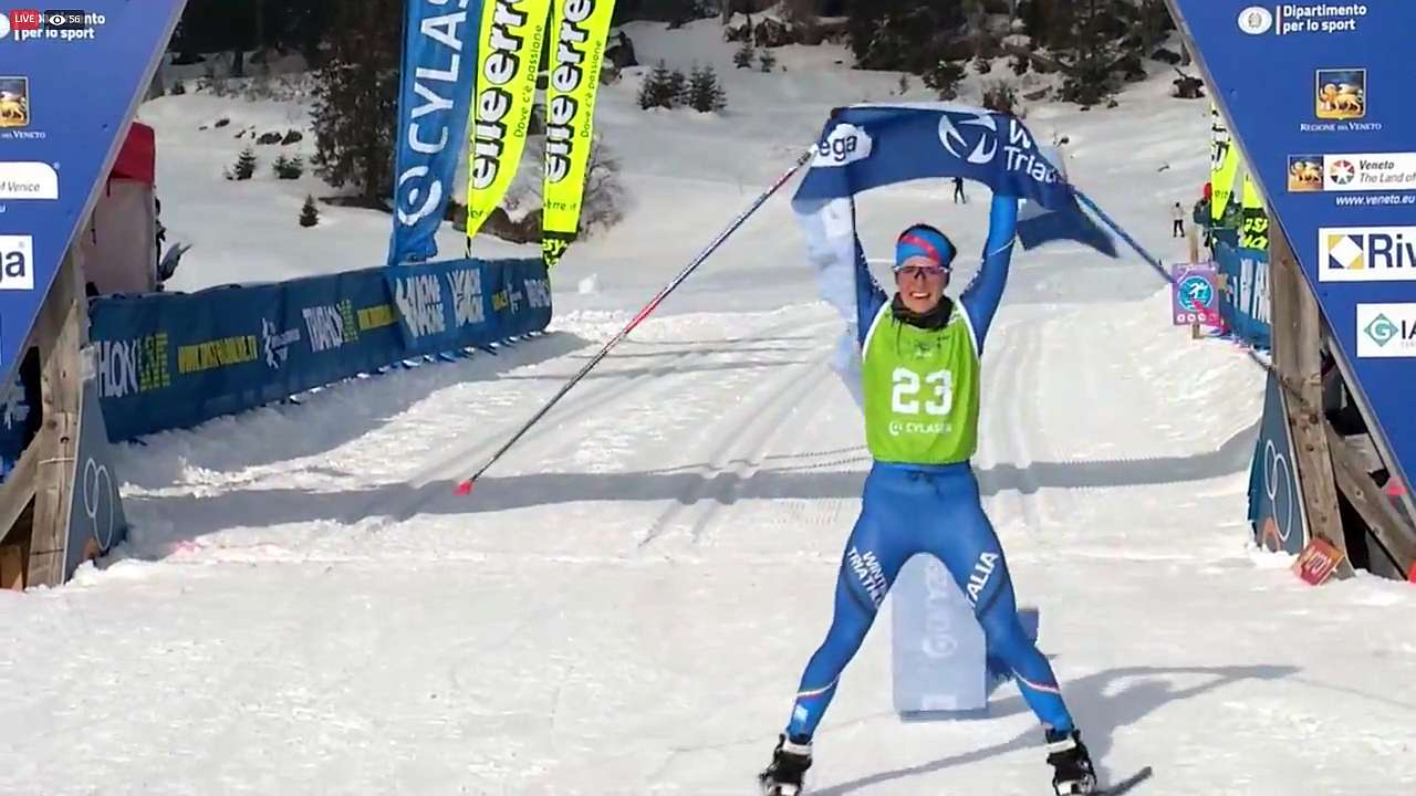 Sandra Mairhofer vince la Winter Triathlon World Cup Asiago!