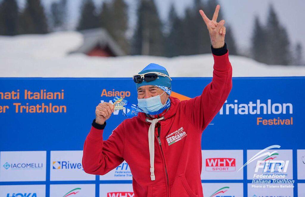 Gherardo Mercati vince il titolo tricolore M8 di winter triathlon il 21 febbraio 2021 ad Asiago