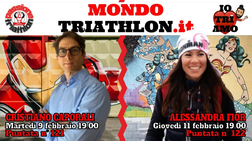 Copertina Passione Triathlon 9 e 11 febbraio 2021 - Cristiano Caporali e Alessandra Fior