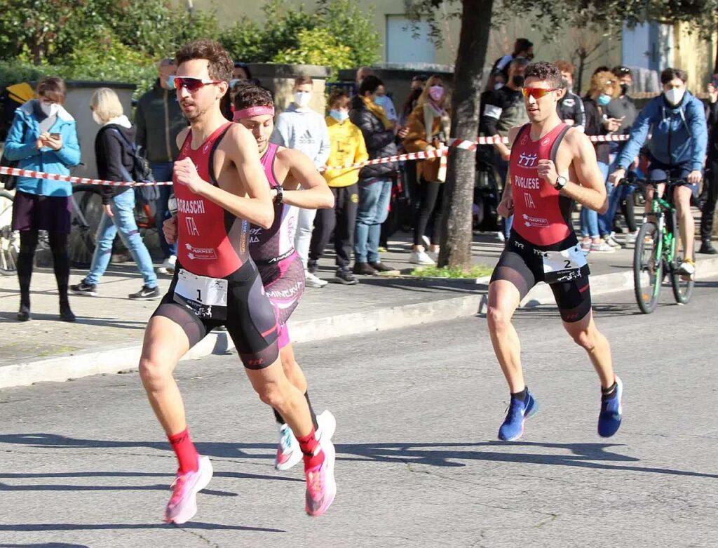 Diego Boraschi e Giulio Pugliese fanno doppietta per il Torrino Roma Triathlon al Duathlon di Sabaudia di domenica 21 febbraio 2021