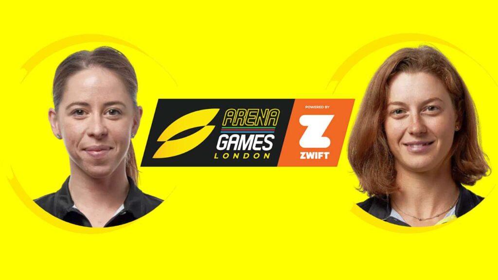 Ilaria Zane ed Alice Betto alla Super League Triathlon Arena Games London del 27 marzo 2021