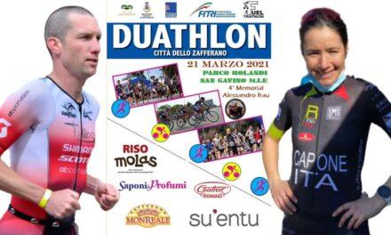Alice Capone e Jim Thijs vincono il 20° Duathlon Città dello Zafferano