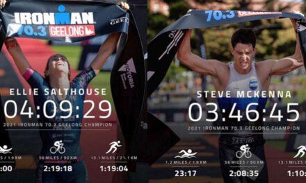 Gli australiani Ellie Salthouse e Steve McKenna vincono l'Ironman 70.3 Geelong
