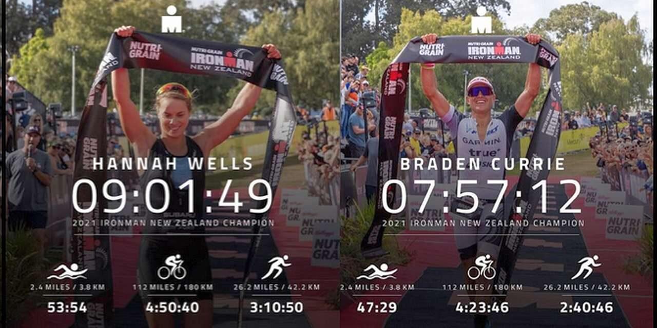 Hannah Wells e Braden Currie vincono l'Ironman New Zealand solo per Kiwi, squalificato il mito Cameron Brown