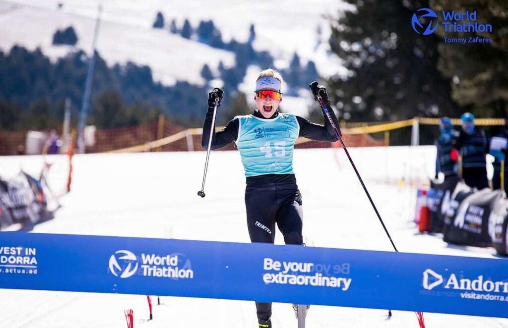 Il norvegese Hans Christian Tungesvik vince il Mondiale di Winter Triathlon 2021 di Andorra