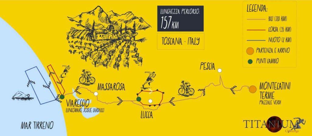 Titanium Challenge Unconventional Triathlon: il percorso