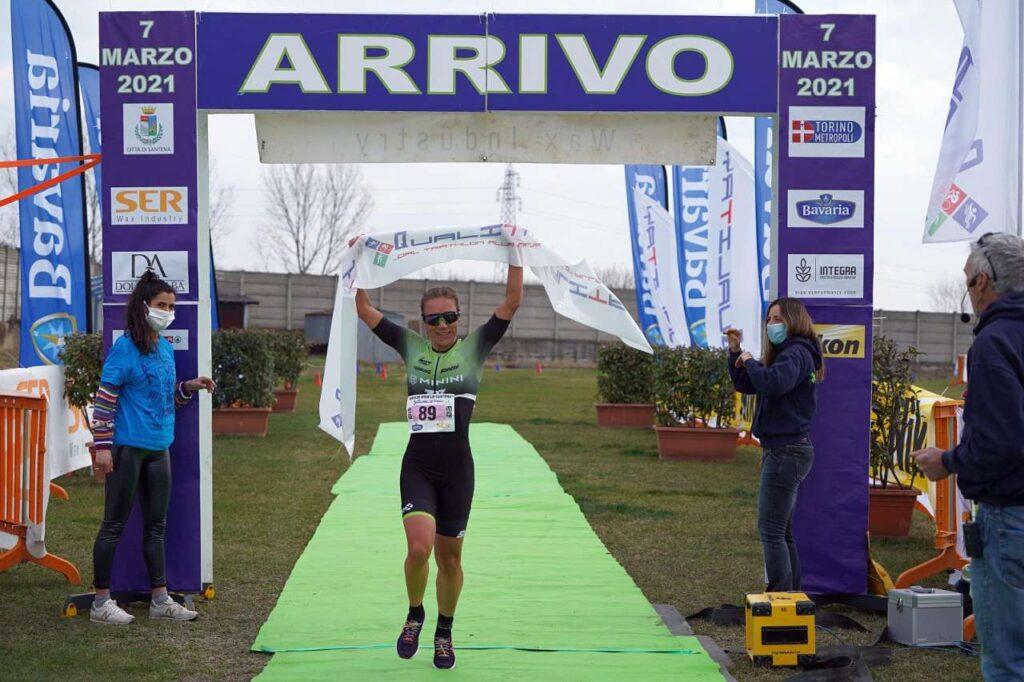 Giorgia Priarone vince il Duathlon di Santena 2021