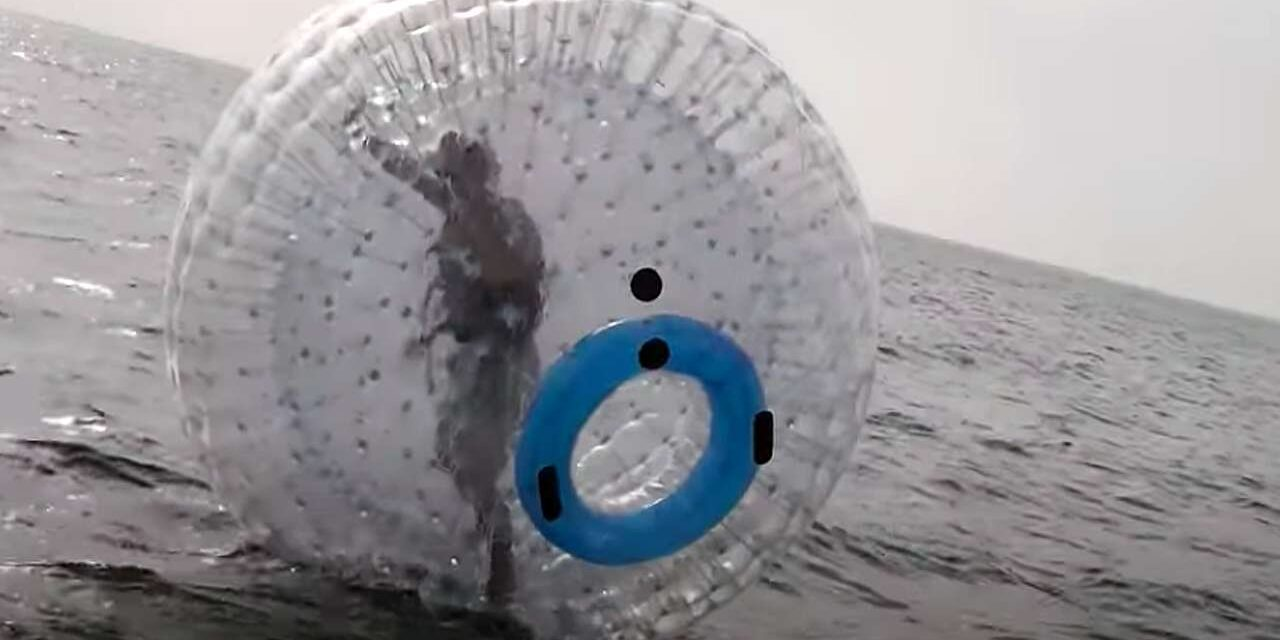 EDIT – Pesce d'aprile :-) – Novità Challenge Family: in tutti i suoi eventi il nuoto anche con la Zorbball!