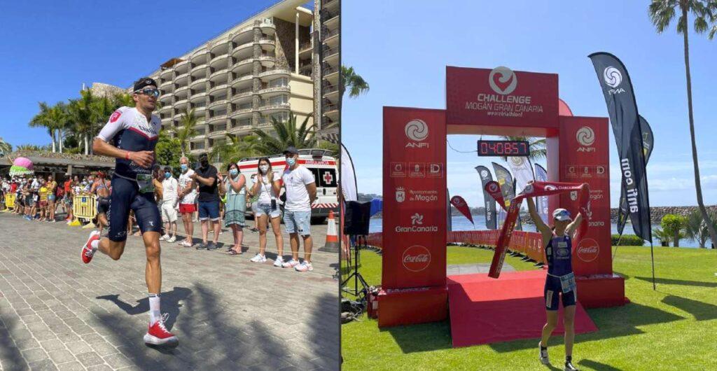Jan Frodeno e Nicola Spirig vincono il 24 aprile 2021 il Challenge Mogan Gran Canaria