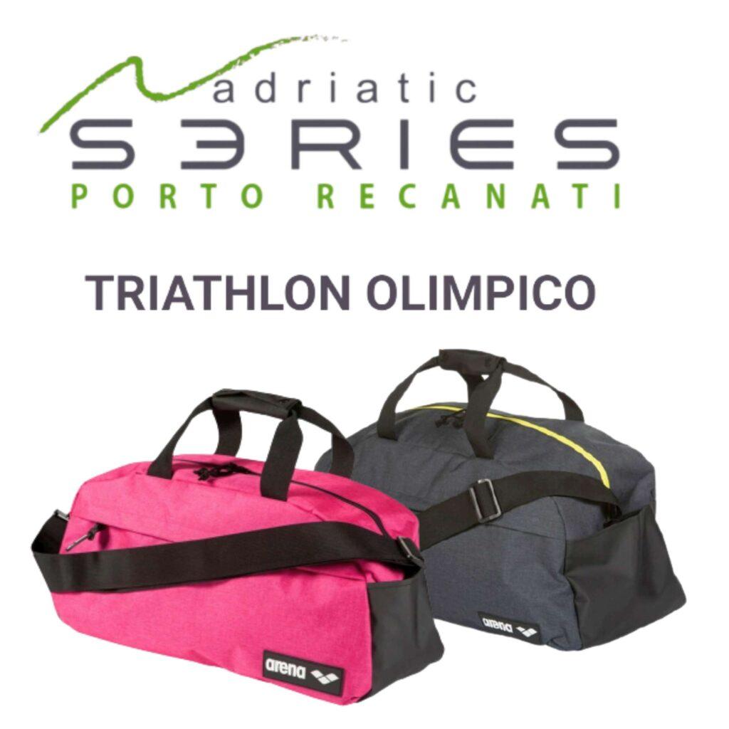 Il borsone arena per tutti gli iscritti al Triathlon Porto Recanati del 2 maggio 2021