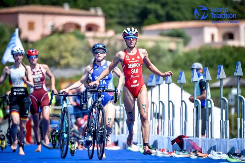 Verena Steinhauser termina terza la World Cup Triathlon Arzachena 2021