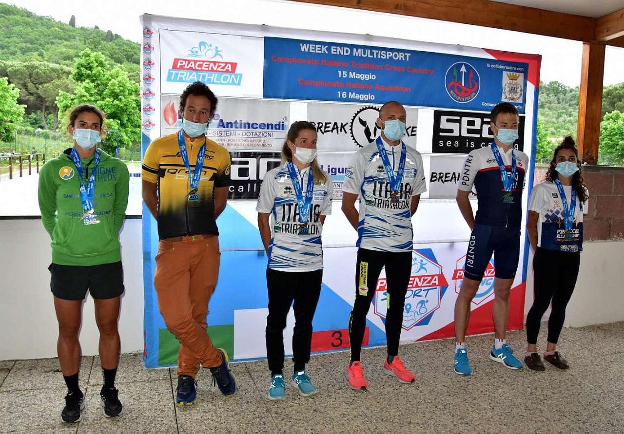 Tutti i Campioni Italiani di Cross Triathlon e Aquathlon Assoluti e di categoria