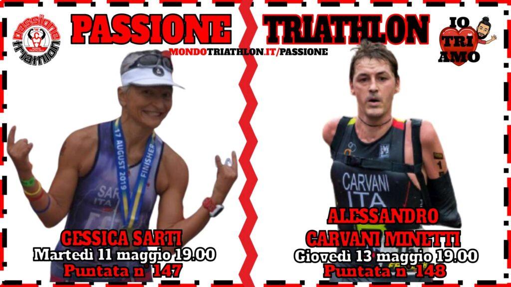Copertina Passione Triathlon 11 e 13 maggio 2021 - Gessica Sarti e Alessandro Carvani Minetti