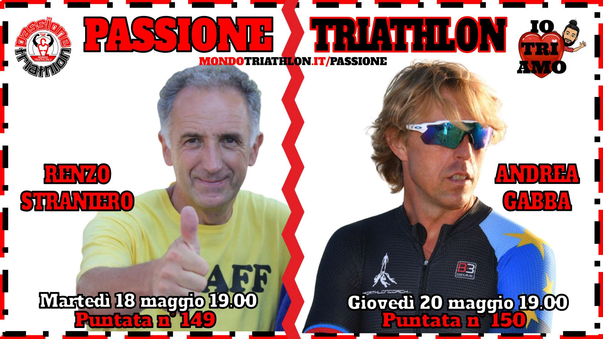 Passione Triathlon Protagonisti 18 e 20 maggio 2021
