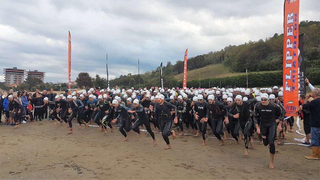 La partenza del Triathlon di Pesaro