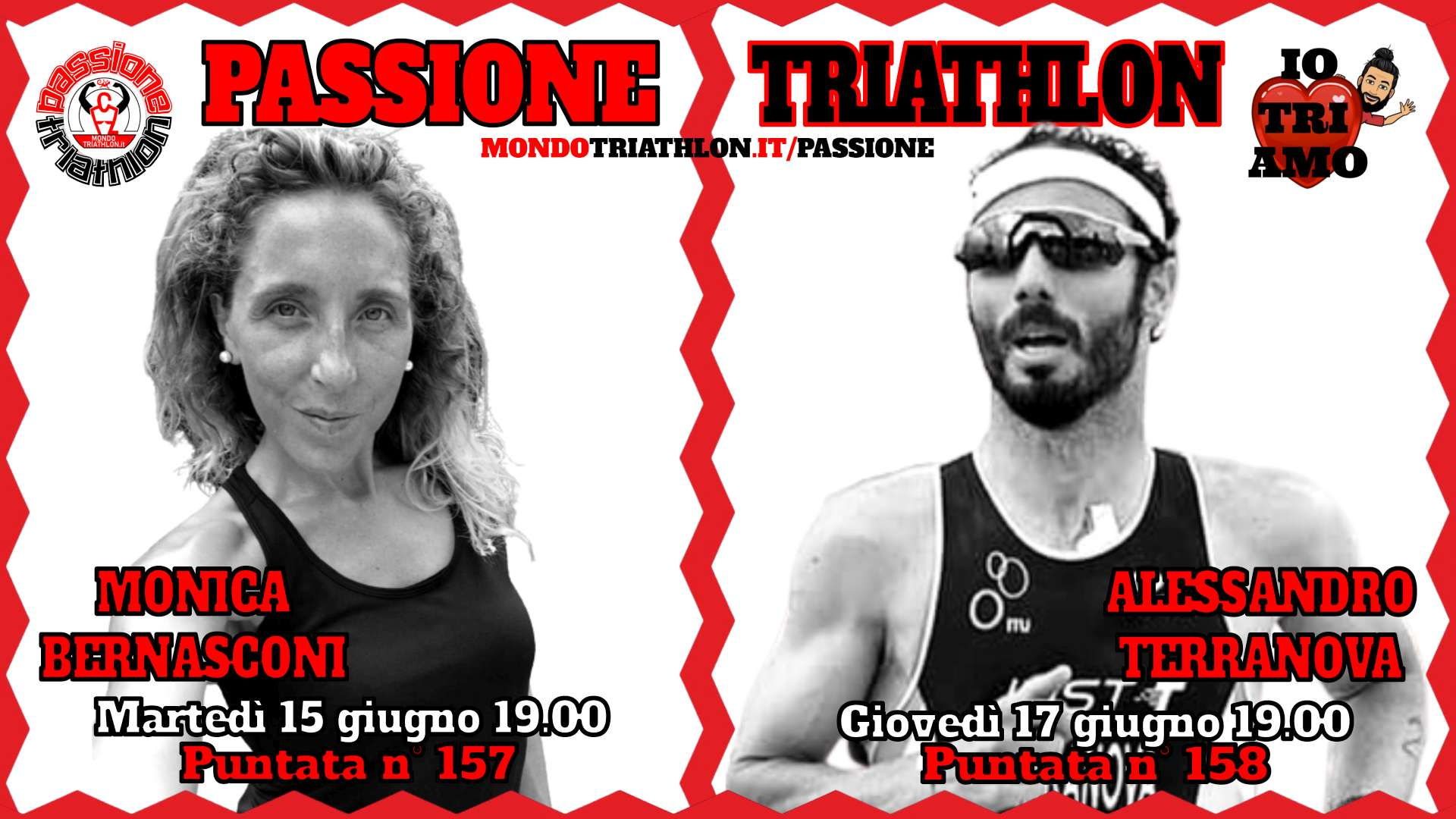 Passione Triathlon Protagonisti 15 e 17 giugno 2021