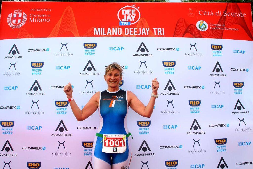 Roberta Guaineri, Assessore allo Sport del Comune di Milano, ha portato a termine il suo primo triathlon olimpico al Deejay TRI 2021 il 5 giugno 2021 (Foto: Marco Bardella)