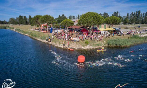Lo spettacolo di Triathlon Show in località Mirabilandia