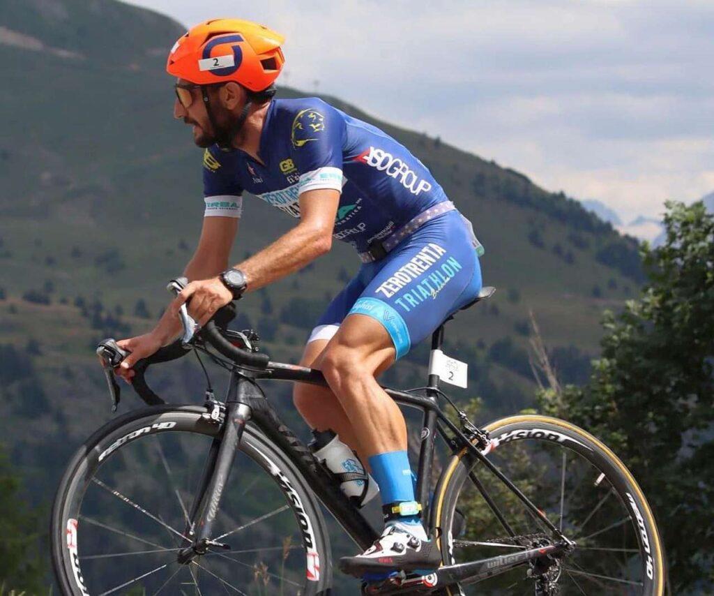 Marco Corti in azione all'Alpe d'Huez Duathlon 2021
