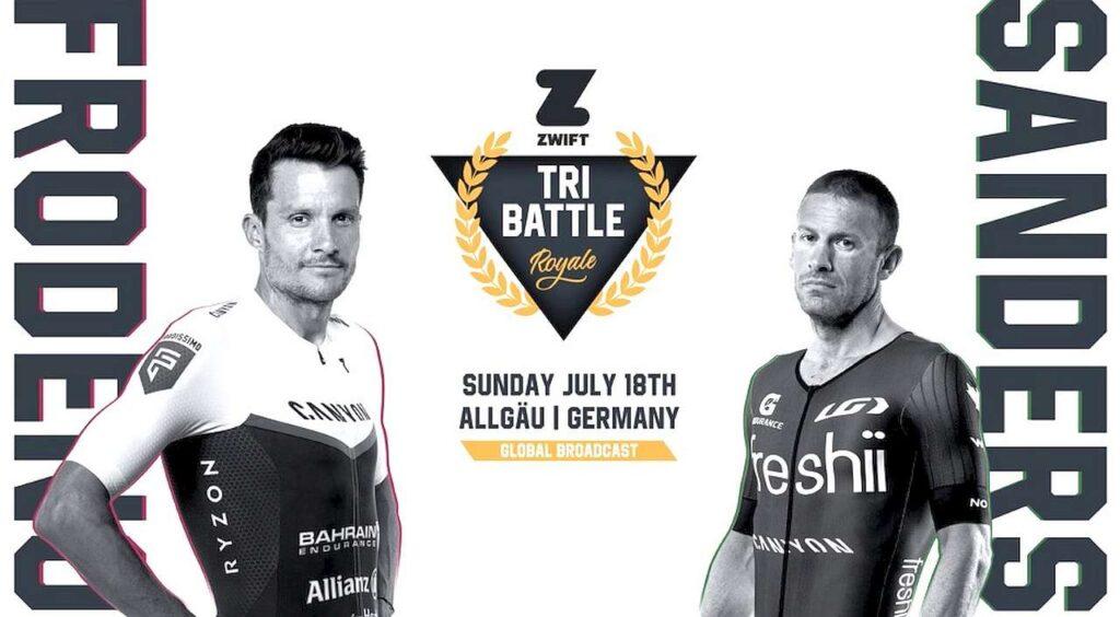 Jan Frodeno vs Lionel Sander, Zwift Tri Battle Royal, 18 luglio 2021