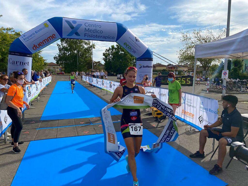Chiara Magrini vince il 1° Triathlon Sprint Città di Crema, Trofeo Piero Bernasconi
