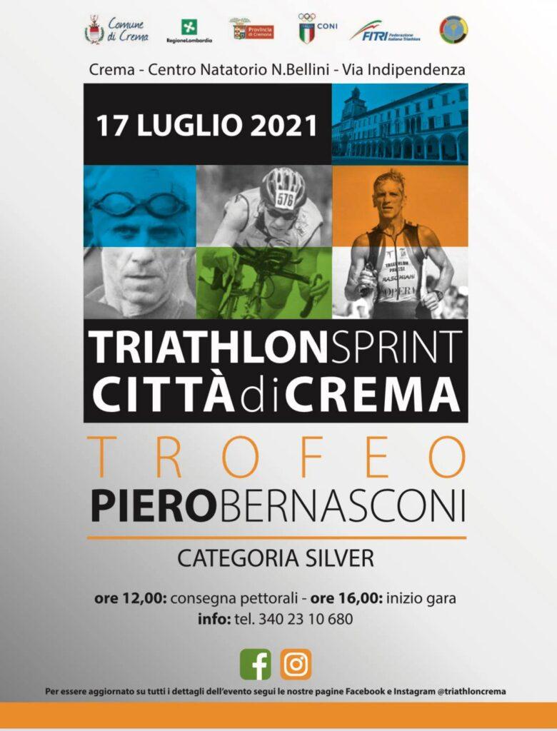 17 luglio 2021, 1^ edizione Triathlon Sprint Città di Crema, Trofeo Piero Bernasconi