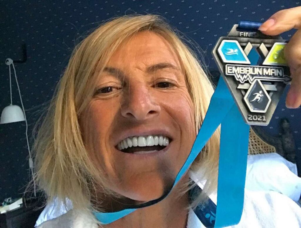 Cristina Cominardi finisher all'Embrunman 2021