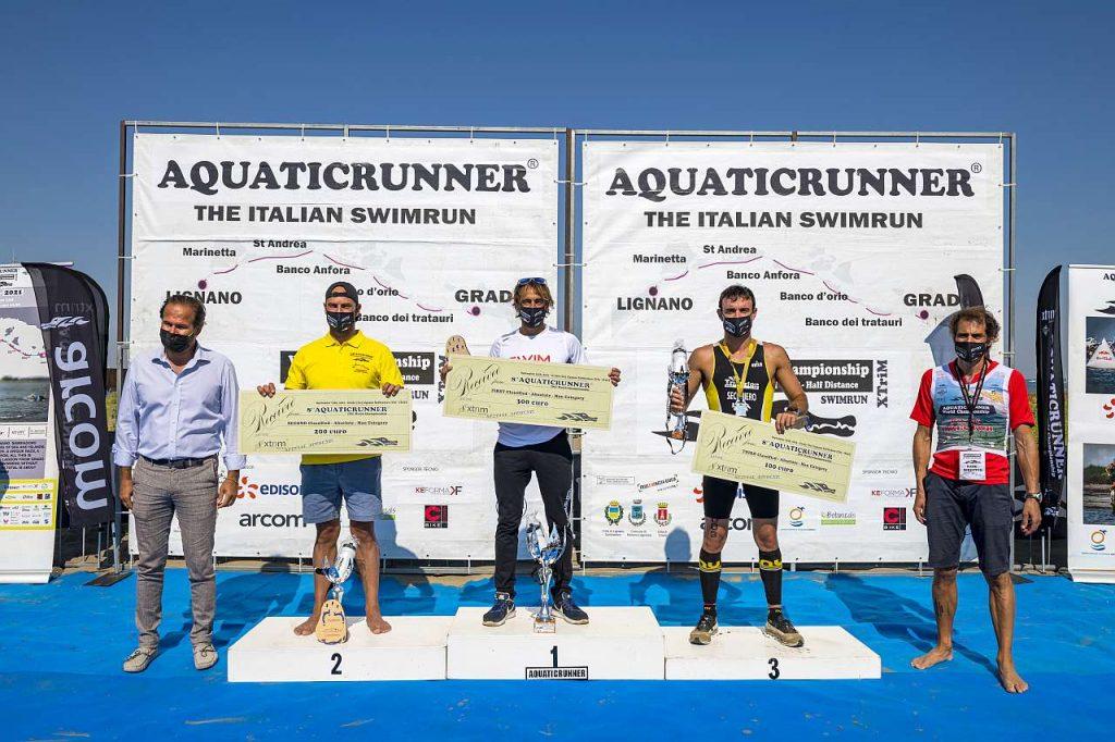 Aquaticrunner 2021: il podio maschile (Foto Roberto Del Bianco)