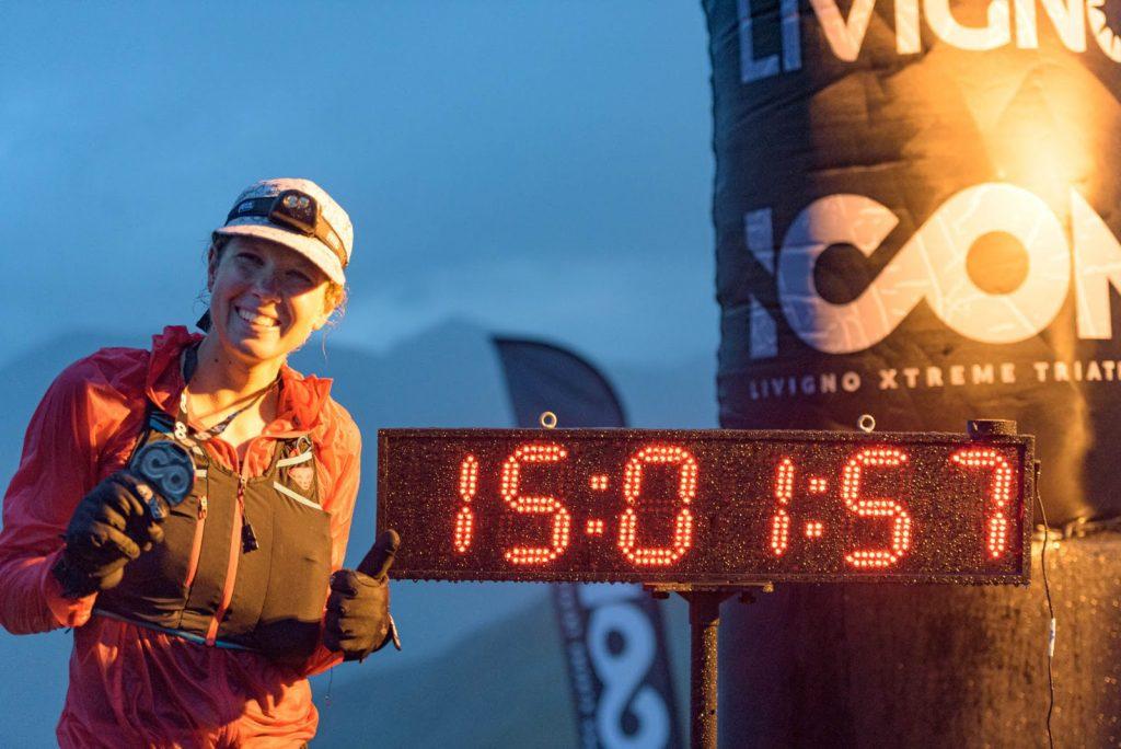 L'austriaca Lisa Wiestner è la prima donna a conquistare il traguardo di Carosello 3000 di Icon Livigno Xtreme Triathlon 2021