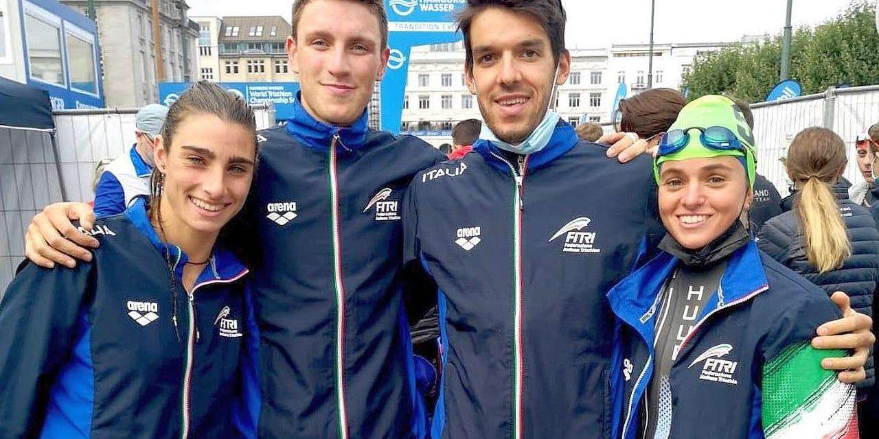 Le emozioni dei nostri azzurri secondi ad Amburgo nella Mixed Relay!