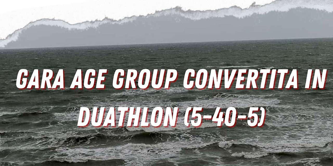 Annullato anche il Campionato Italiano Triathlon Olimpico No Draft per gli Age Group