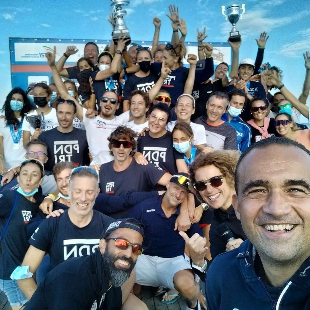 La festa del Thermae Sport Padova Nuoto Triathlon, il team che vince la classifica generale della Coppa Crono 2021