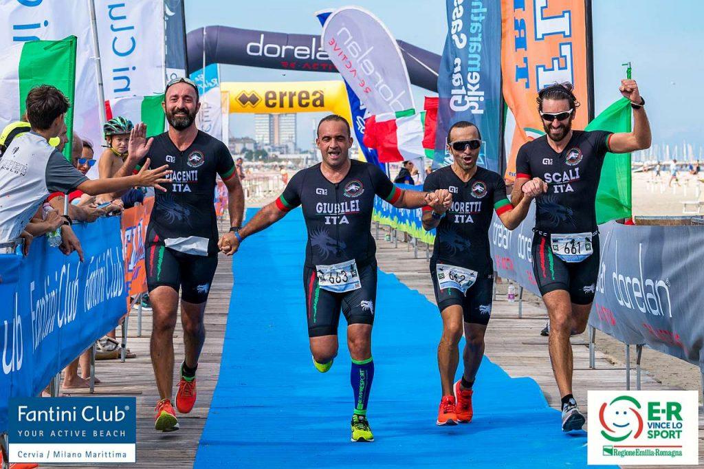 Alla Coppa Crono di Cervia ha partecipato anche il Presidente FITri Riccardo Giubilei con il suo team, il Terni Triathlon